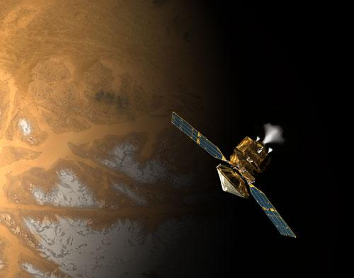 The Mars Reconnaissance Orbiter must fire its thrusters for 27 minutes to enter orbit around Mars (Illustration: NASA/JPL-Caltech)