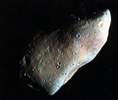 Asteroid 951 Gaspra was the first to be examined close up, by the Galileo spacecraft on 29 October 1991 – it is just 19 kilometres long