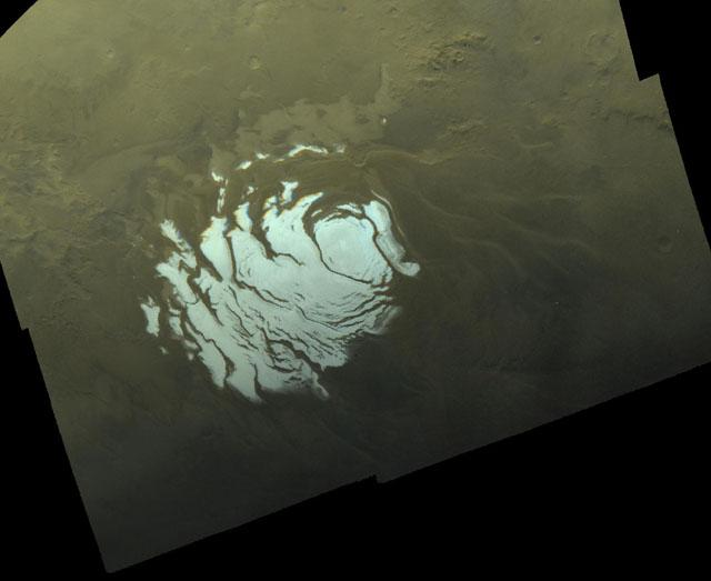 This image of Mars's south polar region was snapped by the Viking Orbiter