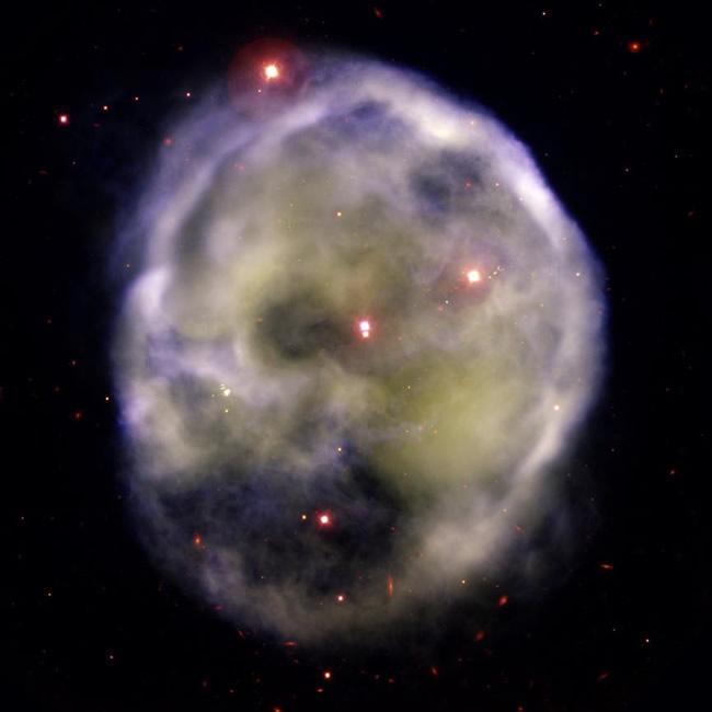 Ghostly visage haunts the Milky Way