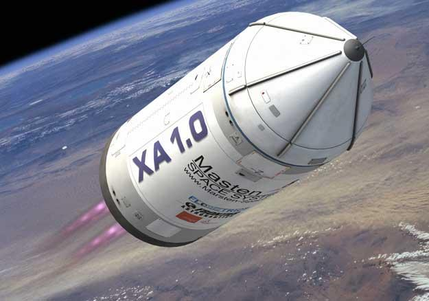 The yet-to-be-constructed XA 1.0 rocket could take $99 canisters into space and back