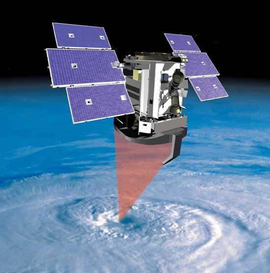 CloudSat will peer into the vertical structure of clouds (Illustration: NASA/JPL)