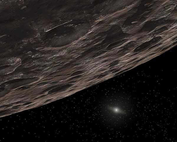 Kuiper belt objects are small, frozen worlds far from the Sun – Pluto is the most well-known (Illustration: NASA/JPL-Caltech/T Pyle-SSC)