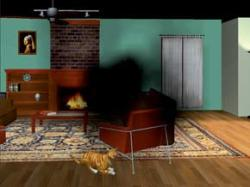 The University of Illinois virtual house, showing vision lost through macular degeneration