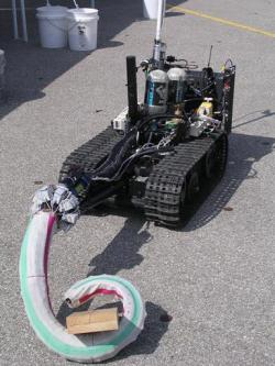 The robotic tentacles have been attached to Talon robots, which are used for reconnaissance and bomb disposal