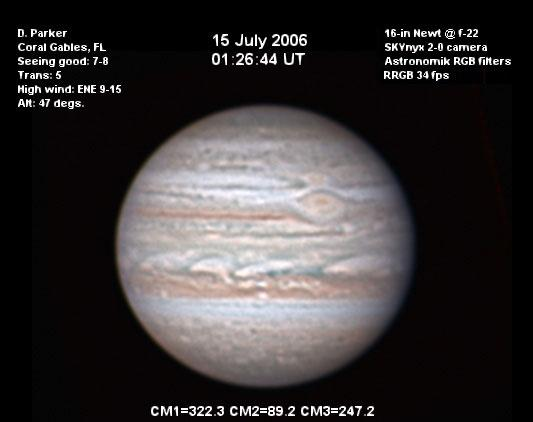 Jupiter's Great Red Spot and Red Spot Jr made their closest approach on 15 July