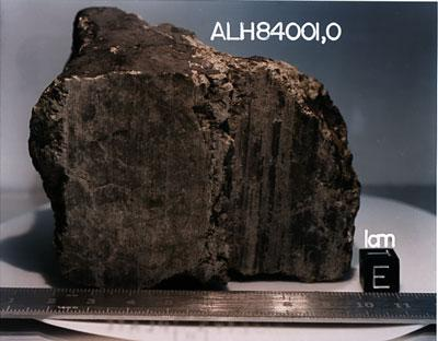 The ALH84001 meteorite from Mars caused a stir in 1996 when scientists announced it contained evidence of past life on Mars