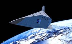 The Silver Dart hypersonic glider is based on the FDL-7 concept, pioneered by the US air force's Flight Dynamics Laboratory in the 1960s (Artist's impression: PlanetSpace)