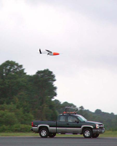 The tiny aircraft weigh just 15 kilograms (33 pounds) or so and can be launched from atop a truck