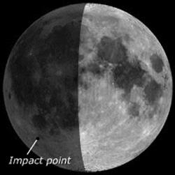 Observers should look for the impact near the Moon's South Pole