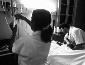 An AIDS patient in hospital (Image: Burger/Phanie/Rex Features