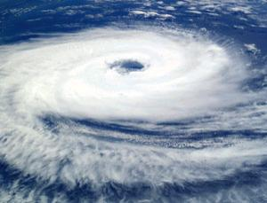Cyclone Catarina near Brazil seen from the International Space Station on 26 March, 2004