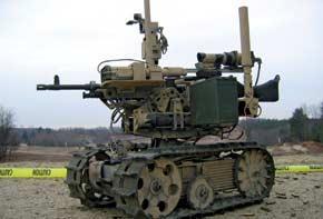 Sword totes a standard machine gun