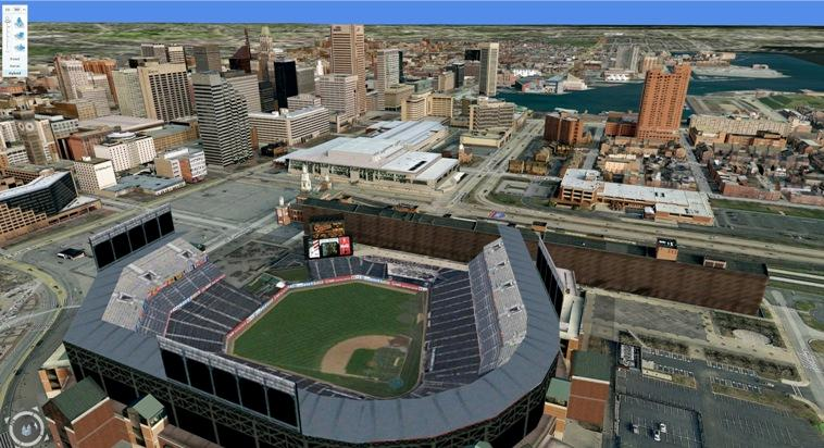 Baltimore is one of several US cities imaged in 3D