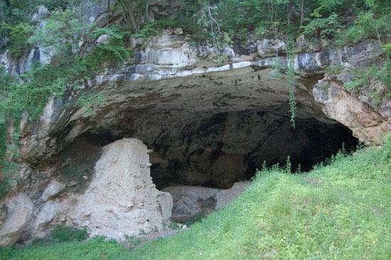 Outside the Vindija cave in Croatia