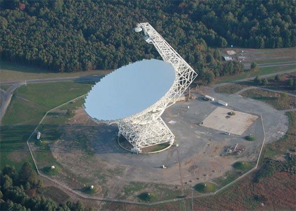 The Green Bank Telescope in West Virginia, US, made the observations that led to the discovery of negatively charged molecules in space