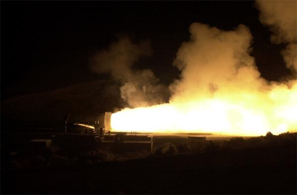 The space shuttle's solid rocket motor underwent a ground test in Promontory, Utah, US, on 16 November