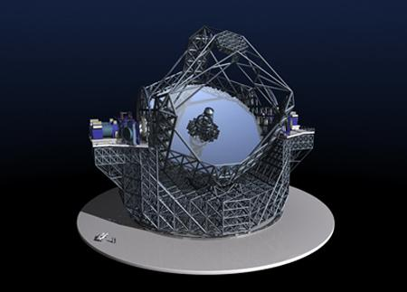 The E-ELT's 42-metre primary mirror will weigh 5500 tonnes (Illustration: ESO)