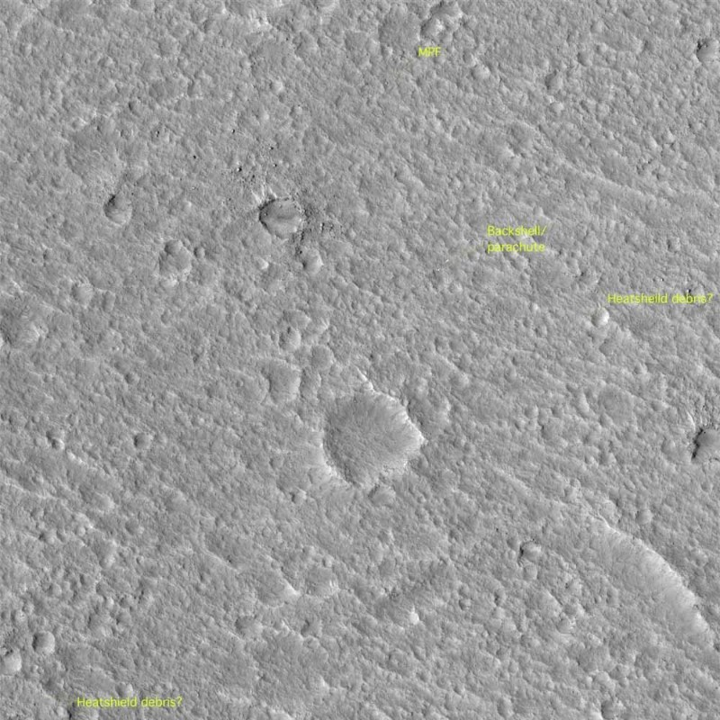 Objects just 30 cm across can be seen in this MRO image of Pathfinder's landing site
