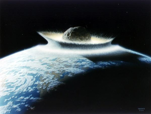 If the asteroid Apophis hits Earth in 2036, it could slam into the Pacific Ocean, generating a tsunami that could devastate the west coast of North America (Illustration: Don Davis/NASA)