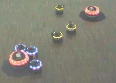 Some s-bots 'evolved' the ability to tell others where to find certain objects