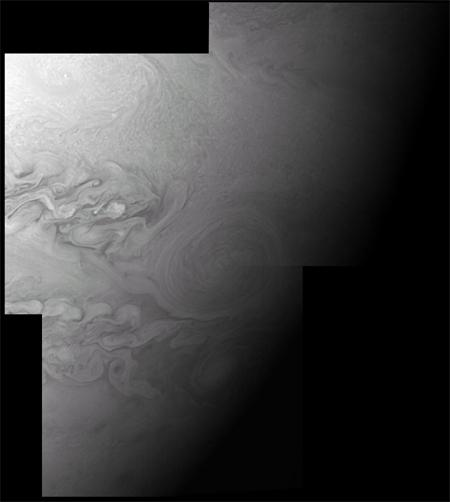 New Horizons caught the closest ever view of the Little Red Spot, a storm raging on Jupiter