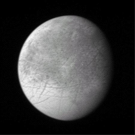 Scientists hope to learn more about faint circular features on Jupiter's icy moon Europa