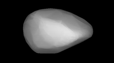 Astronomers have reconstructed the shape of asteroid 1862 Apollo based on measurements of its brightness. Its irregular shape means the sunlight it absorbs and reradiates from different parts of its surface changes its spin rate