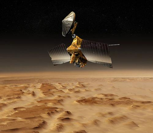 The HiRISE camera aboard NASA's Mars Reconnaissance Orbiter is the most powerful camera ever sent beyond Earth orbit (Illustration: NASA/JPL-Caltech)