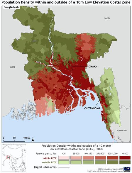 Most Of Bangladesh Is At High Risk From Flooding Sea Level Rises And