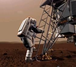 Scientists hope that a 500-day isolation study in Russia will help them plan future flights to Mars (Illustration: ESA)