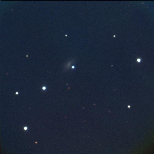 Supernova 2006jc appears at the centre of this image from the Katzman Automatic Imaging Telescope (KAIT) at Lick Observatory. The star's host galaxy appears as a smudge to the upper left of the star