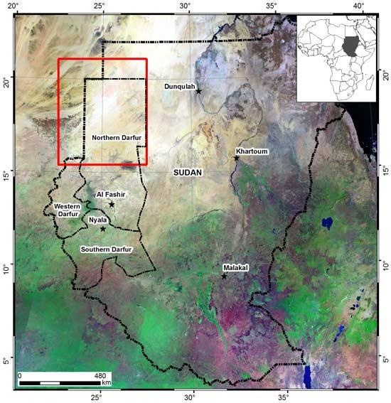 The study was carried out in northwestern Sudan