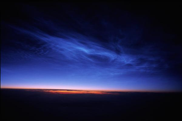 Noctilucent clouds were first observed in 1885, two years after the Krakatoa eruption. But most volcanic eruptions do not spew material high enough in the atmosphere to seed the formation of the icy clouds