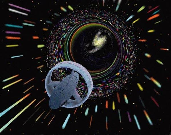 Wormholes could provide portals to other worlds (Illustration: NASA/Les Bossinas)