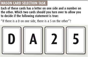 Wason card selection task