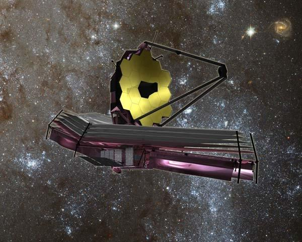 The James Webb Space Telescope will be able to see the first galaxies forming in the early universe (Illustration: NASA)