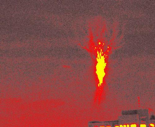 Sprites are seen all over the world: this one was captured on 7 June 2001 above the National Cheng Kung University campus in Tainan City, Taiwan