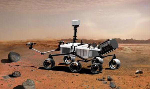 NASA's Mars Science Laboratory will use an arm to collect samples for analysis by its instruments. The agency is looking into whether it could also store those samples for later return to Earth (Illustration: NASA/JPL-Caltech)