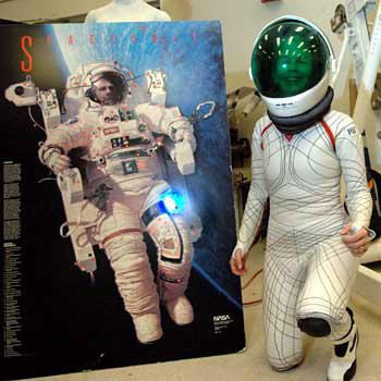 The BioSuit is much more flexible than previous gas-pressurised suits