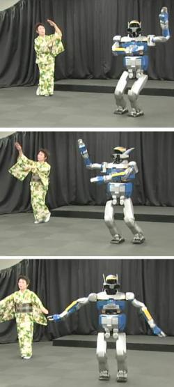HRP-2 performing a Japanese folk routine called Aizu-Bandaisan