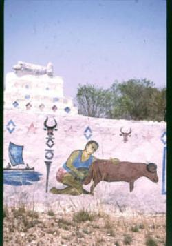 A painted tomb containing ancestors