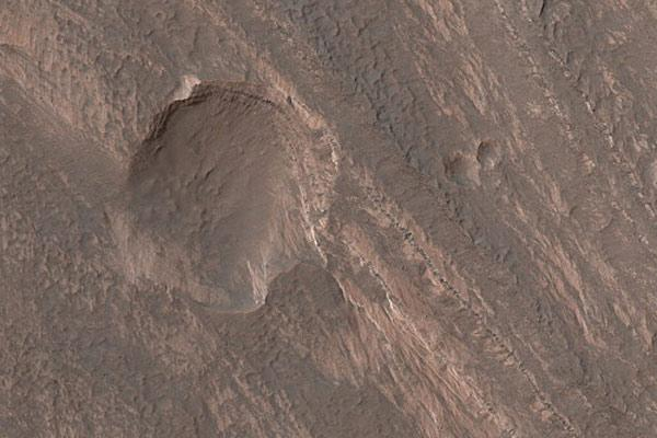 Terby Crater lies in Mars's southern hemisphere, where it would be winter in October 2010, when MSL is due to land. The rover might have to hibernate during the coldest spells if it were to land here