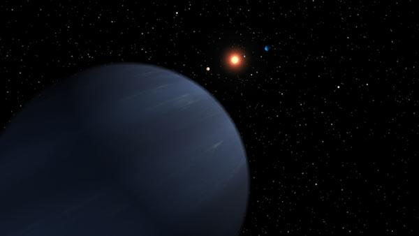 The fifth planet discovered around 55 Cancri has a 260-day orbit around the star, and could resemble Saturn or Neptune in our own solar system (Illustration: NASA/JPL-Caltech)
