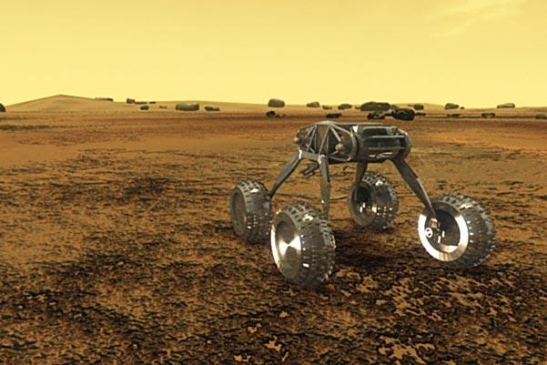 A rover that could survive the intense heat of Venus, seen here in an artist's impression, could revolutionise our understanding of the planet (Illustration: NASA)