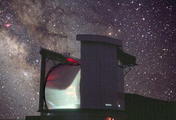 The James Clerk Maxwell Telescope in Hawaii, US, the world's largest single-dish submillimetre telescope, was one of the observatories used to observe the central region of our galaxy