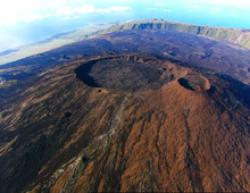 The crater of the Piton de la Fournaise volcano