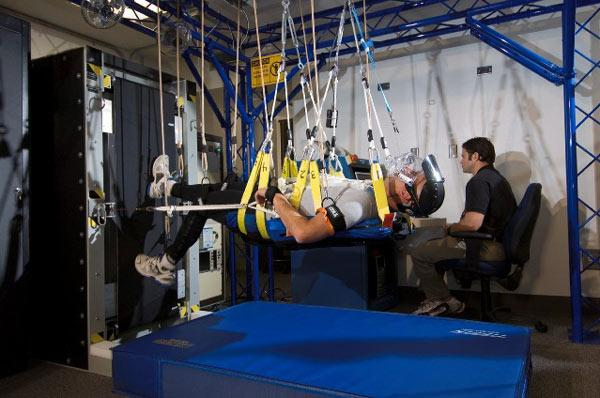 The Standalone Zero Gravity Locomotion Simulator is based on a design first developed by Russia's Institute of Biomedical Problems