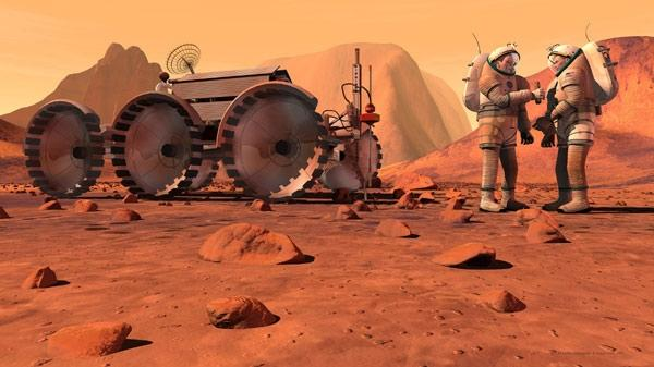 Putting human explorers on Mars should be the focus of NASA's exploration activities, a group of top space experts says (Illustration: NASA)