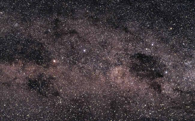 Though it looks like a single star, Alpha Centauri (the bright spot left of centre) is actually a triplet